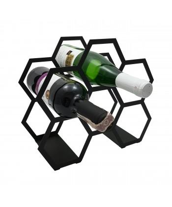 Stojak na wino na 6 butelek - PLASTER
