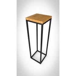 Nowoczesny kwietnik, drewno - metal - loftowy - 100cm