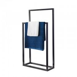 Nowoczesny stojak, wieszak na ręczniki podwójny WEGA DUO LOFT stal 45cm