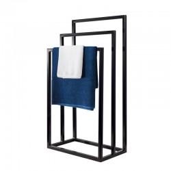 Nowoczesny stojak, wieszak na ręczniki potrójny WEGA TRE LOFT stal 45cm