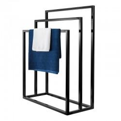 Nowoczesny stojak, wieszak na ręczniki potrójny WEGA TRE LOFT stal 60cm