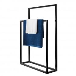 Nowoczesny stojak, wieszak na ręczniki podwójny WEGA DUO LOFT stal 60cm