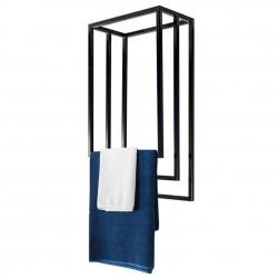 Nowoczesny wieszak sufitowy na ręczniki potrójny prostokątny LOFT stal 45cm