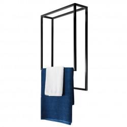 Nowoczesny wieszak sufitowy na ręczniki podwójny szeroki LOFT stal 60cm