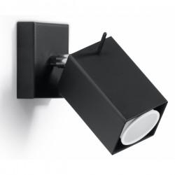SOLLUX Designerska Lampa Ścienna Halogen Kinkiet MERIDA czarny LED!