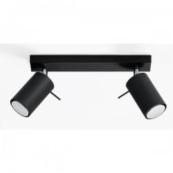 SOLLUX Efektowna Praktyczna Lampa Listwa Spot Plafon RING 2 czarny LED!