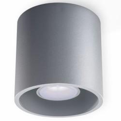 SOLLUX Lampa Sufitowa Downlight Orbis Szara LED! Minimalistyczny plafon na sufit