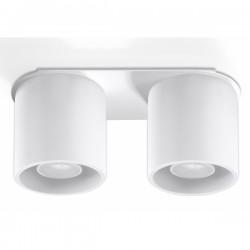 SOLLUX Okrągła lampa sufitowa plafon podwójny Orbis 2 Biały walec LED!