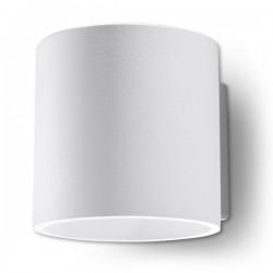 SOLLUX Okrągła lampa ścienna kinkiet Orbis Biały walec LED!