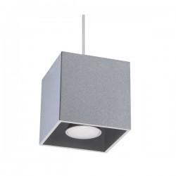 SOLLUX Kwadratowa lampa wisząca Quad Szary kostka LED!