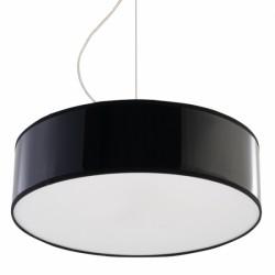 SOLLUX Nowoczesna Lampa Sufitowa Okrągła Wisząca ARENA 35 Czarna