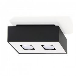 SOLLUX Elegancki Designerski Plafon Korytko Mono 2 Czarny LED Lampa Sufitowa Oświetlenie Minimalistyczne