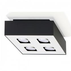SOLLUX Efektowny Designerski Plafon Kwadrat Mono 4 Czarny LED Lampa Sufitowa Oświetlenie Minimalistyczne
