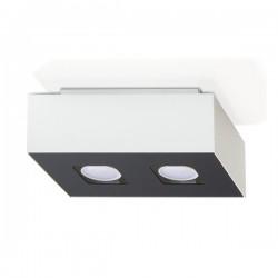 SOLLUX Futurystyczny Designerski Plafon Korytko Mono 2 Biały LED Lampa Sufitowa Oświetlenie Minimalistyczne