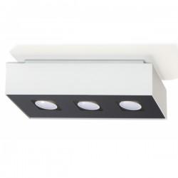 SOLLUX Rewelacyjny Designerski Plafon Korytko Mono 3 Biały LED Lampa Sufitowa Oświetlenie Minimalistyczne