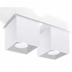 SOLLUX Kwadratowa lampa sufitowa podwójny plafon Quad 2 Biały kostka LED!