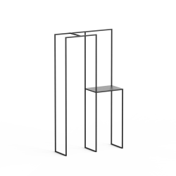 Wieszak z półką loft PASO 103x185 z metalu