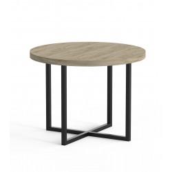 Stolik kawowy okrągły loft PLANO śr. 60 z blatem z płyty meblowej