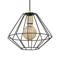 EmiBig Alteo 1 BLACK 225/1 wisząca lampa sufitowa LOFT regulowana czarna złote elementy