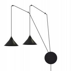 EmiBig Abramo 2 Black 160/2 lampa sufitowa wisząca regulowana najnowszy design czarna loft
