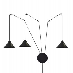 EmiBig Abramo 3 Black 160/3 lampa sufitowa wisząca regulowana najnowszy design czarna loft
