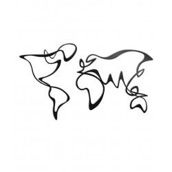 Dekoracja ścienna - Mapa