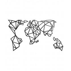 Dekoracja ścienna - Mapa geometryczna