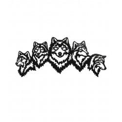 Dekoracja ścienna - Wilki